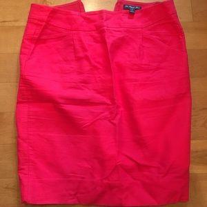 Deep pinkish red J Crew pencil skirt size 2